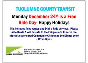 FREE Ride Day- December 24