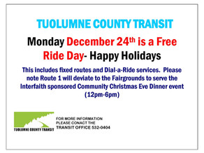 FREE Ride Day- December 24