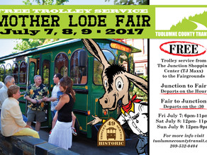 Trolley goes to the Mother Lode Fair!