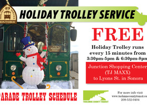 Take the Trolley to Sonora's Christmas Parade!