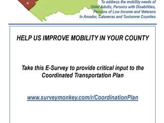 Take the Coordinated Plan survey!