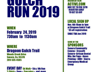 Dragoon Gulch 5k & 10k Run