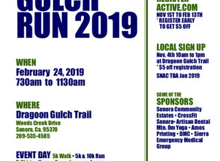 Dragoon Gulch 5k & 10k Run