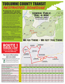 Route 1 Returns-- July 1; General Public Dial-a-Ride continues