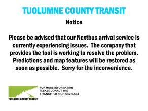 Nextbus Predictions and Map- Suspended Temporarily