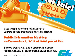 Excess Caltrans Land for Sale - Public Information Meeting