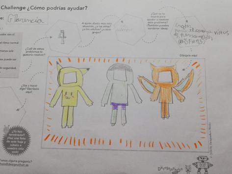 Trajes de protección del coronavirus con forma de personajes