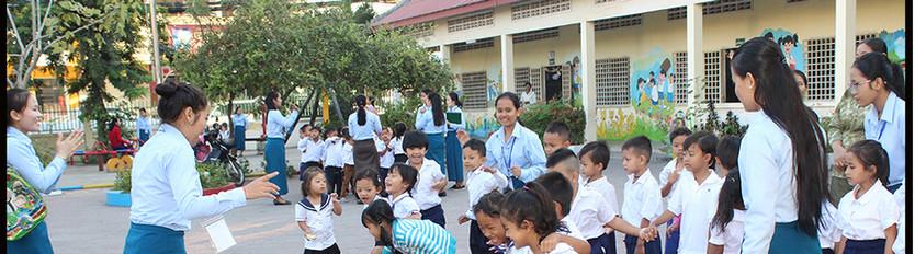 Khvet Student Teaching Kids