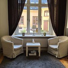 Samtalsrum på Mötesrum, Stockholm, Luntmakargatan 52, psykosyntes, samtalsterapi, coachning, psykologi, stöd, samtal
