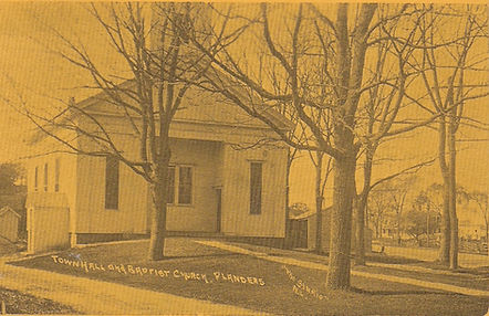 """Townhall and Baptist Church, Flanders by """"The Studio"""" - New London, CT"""