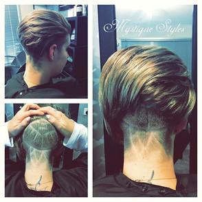 #lines #undercut #funky #haircut
