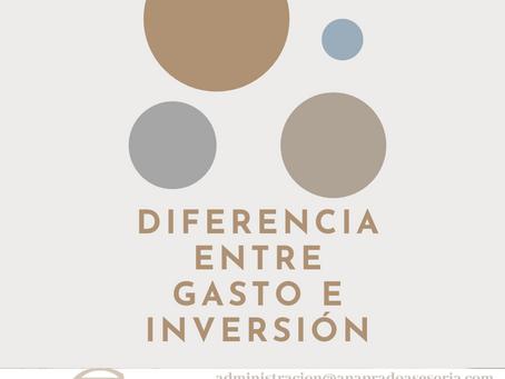 ¿CUÁL ES LA DIFERENCIA ENTRE INVERSIÓN Y GASTO?
