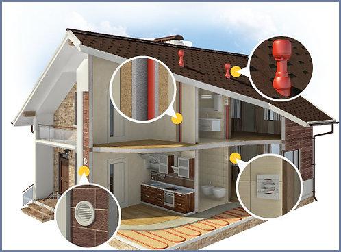 Вентиляция загородных домов котеджей