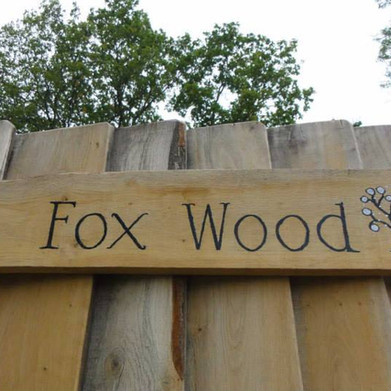 Fox Wood Camping gate entrance
