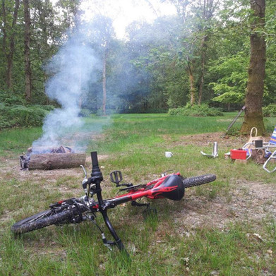 Fox Wood Camping - with cycle trails directly from the site into the South Downs National Park