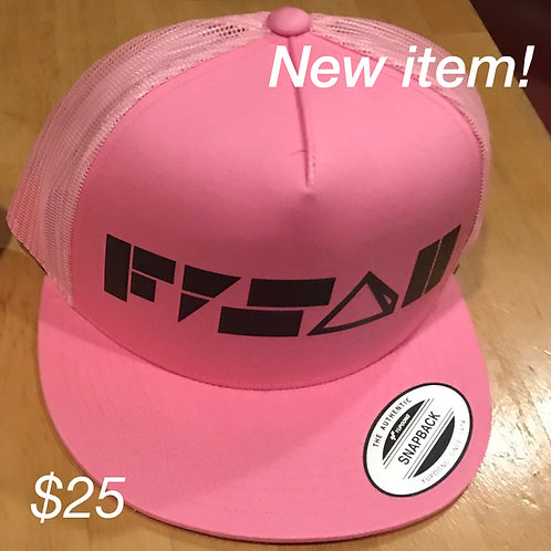 Yupoong Trucker hat in Pink