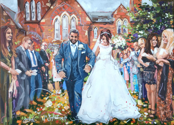 Civil wedding painting
