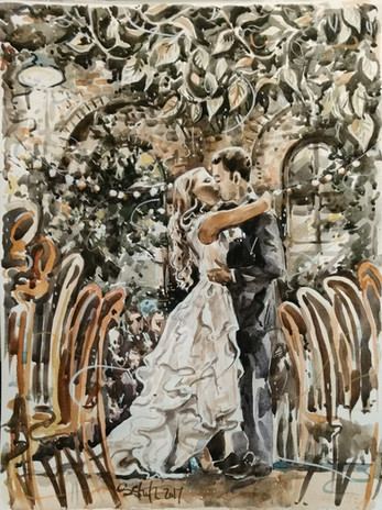 watercolour wedding painting