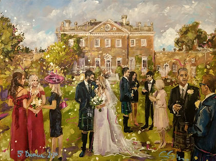 """Bespoke event painting, 18x24"""""""