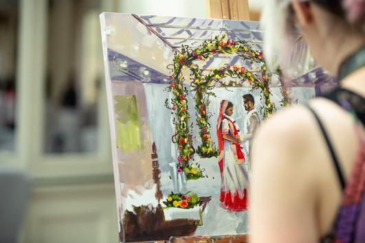 Painting at Orsett Hall, Grays