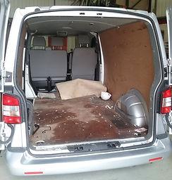 Van example before a van seat conversion