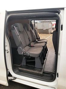 extra seats insalled into a toyoya proace van