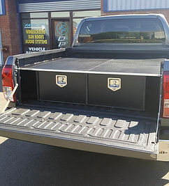 Storage box for pickup trucks