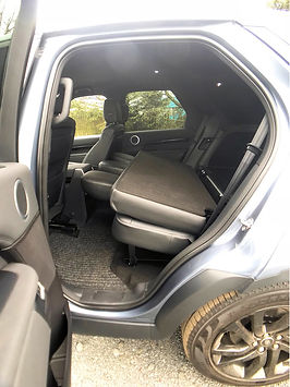 Land Rover discovery seats folded down, side view example