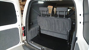 Rear view of VW Caddy Maxxi Seats