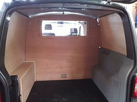 Window in a van bulkhead