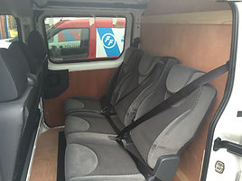Van side window and seat conversion