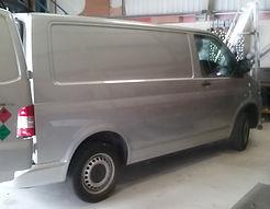 Van with no side window