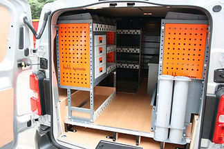 MAXIM bespoke shelving for vans