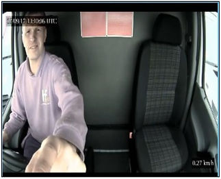 Dashcam driver view
