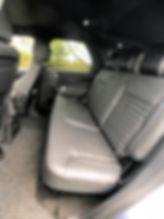 Land Rover rear seats