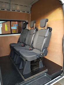 3 extra seats in a maxus v80 van