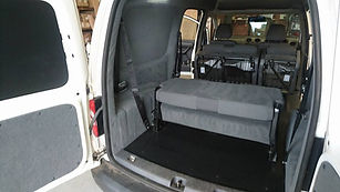Folded VW Caddy Maxxi Seats