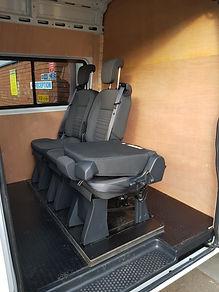 tilting seat in a van