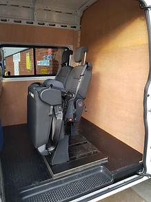 folding seat in a van