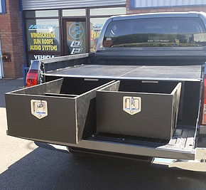 Phenolic storage box for pickup trucks