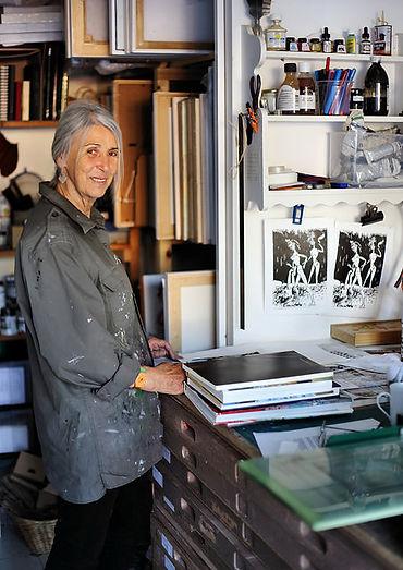 Anthea Richards in her studio