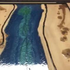 Live edge river oak table in the process