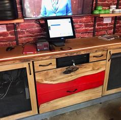 Live edge oak counter