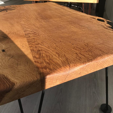 Handcrafted Oak Coffee Table