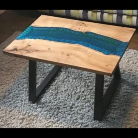Live edge river oak table