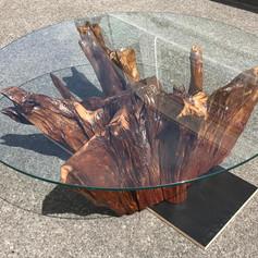 'Buncrana' Tree Stump with Glass Top