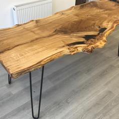 Live edge oak table.