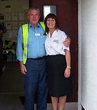 Pictured outside Port Ellen peir office, on his last time at the port in the summer of 2006 before retirement.