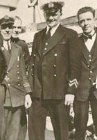 """Ralph Sweeny is on the extreme right, next to him is Percy (second right). Photo is titled 'The Boys from Lochnevis 1934'. For full picture see:<br><a href=""""crew_feature_2.asp"""">Lochnevis's Crew Profile</a>"""