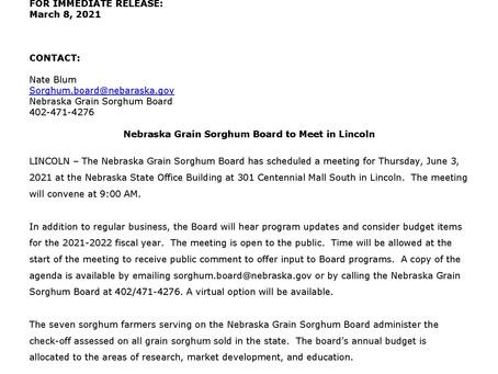 NGSB to Meet in June